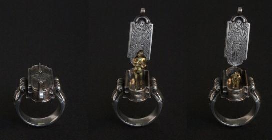 Ring: Memento Vivendi, Silver, gold, shakudo