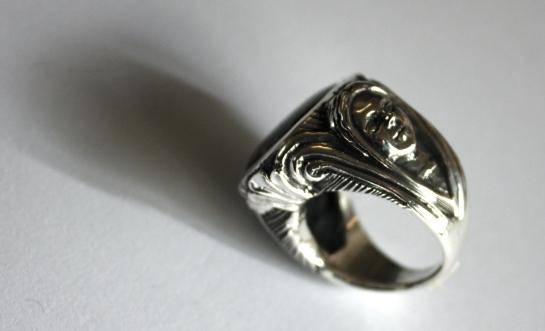 Nyx; ring, silver & pietersite