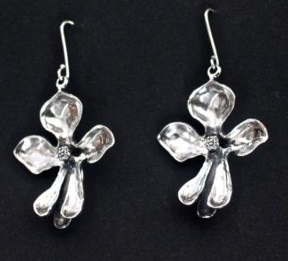 Perskabong: Earrings, silver