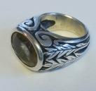 Ring: silver, rutile quartz